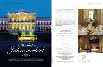 Silvester im Palais Coburg Silvestermenü - viennadeluxe.at