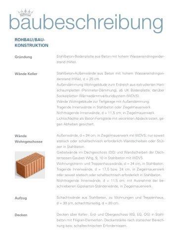 Baubeschreibung Wohnungen - BGV
