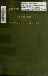 Lehrbuch der Markscheidekunde