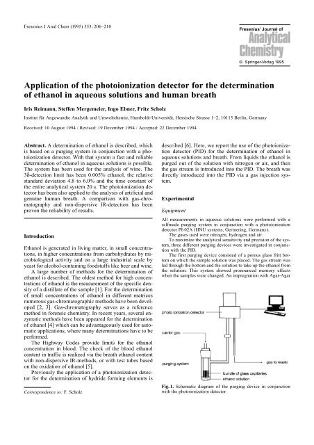 Application of the photoionization detector for the determination of ...