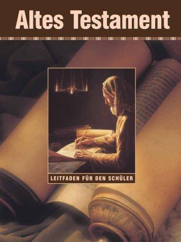 Altes Testament – Leitfaden für den Schüler