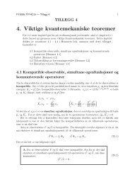 4. Viktige kvantemekaniske teoremer