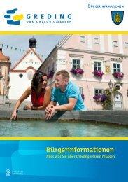 Bürgerinformationsbroschüre - Stadt Greding