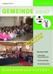 Gemeindebrief 4/2012 - Kirchengemeinde Eldagsen