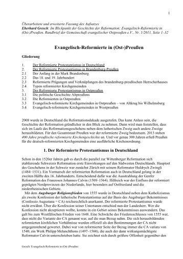 Gresch Evangelisch-Reformierte in (Ost-)Preußen - reformiert-info.de