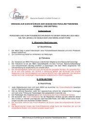 Ordnung zur Durchführung der Hessischen Pokalwettbewerbe (HPO)