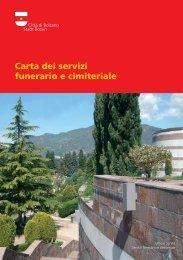 Carta dei servizi funerario e cimiteriale - Comune di Bolzano