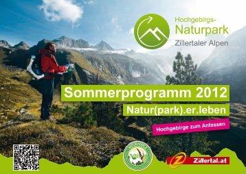 Naturpark Sommerprogramm - Hotel Berghof
