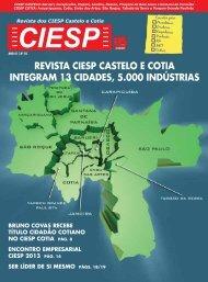 REVISTA CIESP CASTELO E COTIA INTEGRAM 13 CIDADES, 5.000 INDÚSTRIAS