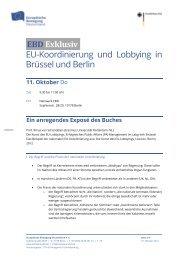 EU-Koordinierung und Lobbying in Brüssel und Berlin - Netzwerk ...