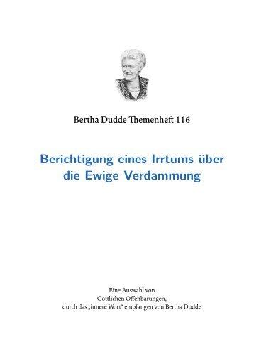 Wer war Bertha Dudde? - bertha-dudde.info