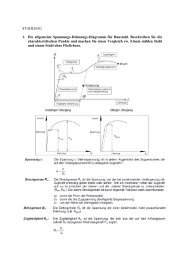 STAHLBAU 1. Die allgemeine Spannungs-Dehnungs-Diagramm für ...