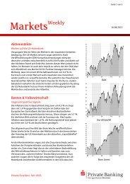 Markets Weekly vom 05.07.2013 - Sparkasse Bremen