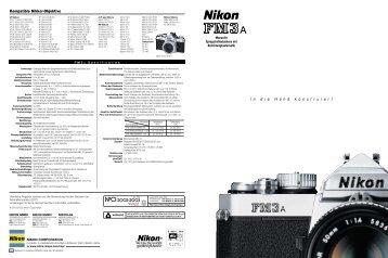 I ndie H andkonstruiert Kompatible Nikkor-Objektive - blende7