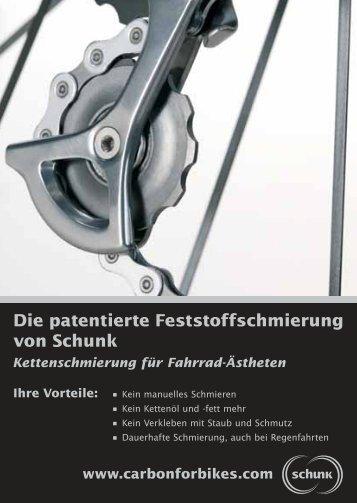 Die patentierte Feststoffschmierung von Schunk - CarbonForBikes