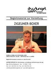 Begleitmaterial Zigeuner-Boxer - Dschungel Wien
