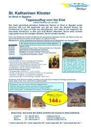 St. KATHARINEN KLOSTER im Sinai ab/bis Eilat.. Die beliebten 1 ...