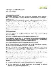 Allgemeine Geschäftsbedingungen (AGB) - Borrmann-Design