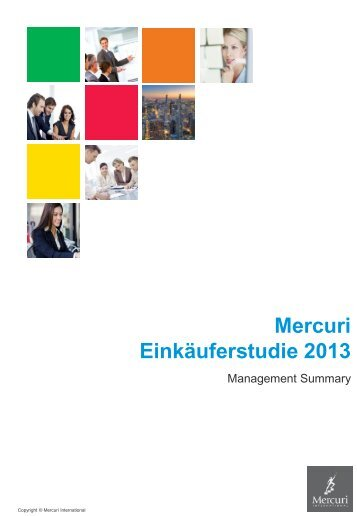Mercuri Einkäufer-Studie 2013 (Management Summary)