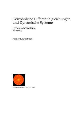 Gew ¨ohnliche Differentialgleichungen und Dynamische Systeme