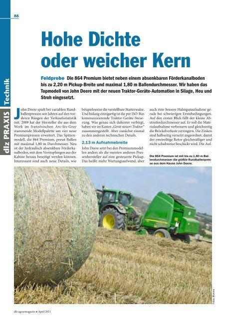 Hohe Dichte oder weicher Kern - Rebo Landmaschinen GmbH