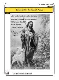 Dr. Horst Neumann Der erste Brief des Apostels Petrus fflfflfflfflffl Die ...