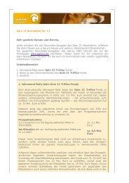 Gain 21 Newsletter Nr. 12 Sehr geehrte Damen und Herren, anbei ...
