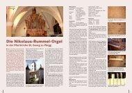 Die Nikolaus-Rummel-Orgel - Orgelbau Walcker-Mayer