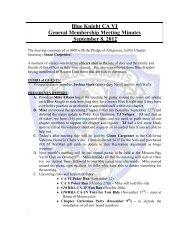 Blue Knight CA VI General Membership Meeting ... - bk-cavi.org