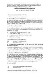 Unterrichtsorganisation an den Grundschulen - Kultusministerium ...