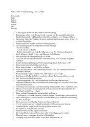 Protokoll 10. Vorstandssitzung vom 13.03.02 Anwesende: Tarig ...