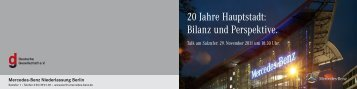 20 Jahre Hauptstadt - Deutsche Gesellschaft eV