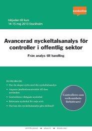 Avancerad nyckeltalsanalys för controller i offentlig sektor - Conductive