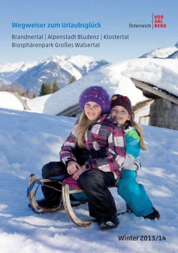 Wegweiser zum Urlaubsglück Winter 2013/14