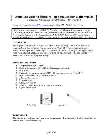"""calibrating a thermistor coursework Calibration of a thermistor thermometer as described in the previous  experiment """"measurement of temperature on the ideal gas scale"""" temperature  can be."""