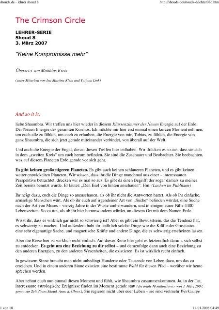 Keine Kompromisse mehr - Spiru.de