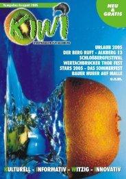 August 2005 - kiwi - stadtmagazin für augsburg
