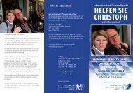 Helfen Sie CHriStopH - Extern.fachklinik-enzensberg.de - Fachklinik ...