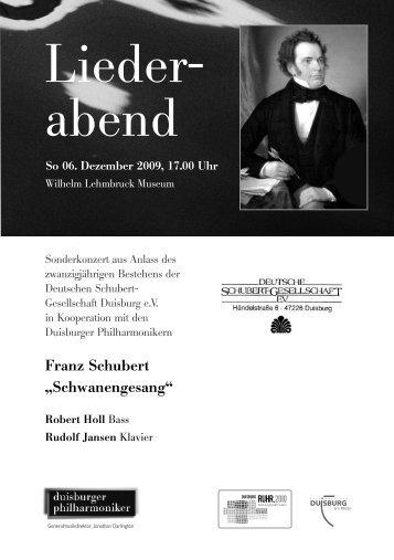 Lieder- abend - Die Duisburger Philharmoniker