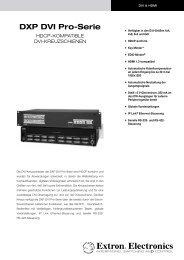 DXP DVI Pro-Serie - HDCP-kompatible DVI ... - Extron Electronics