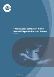 Threat Assessment of Child Sexual Exploitation and Abuse - Ceop