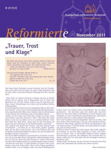 Gemeindeblatt November 2011 - Evangelisch-reformierte Gemeinde ...