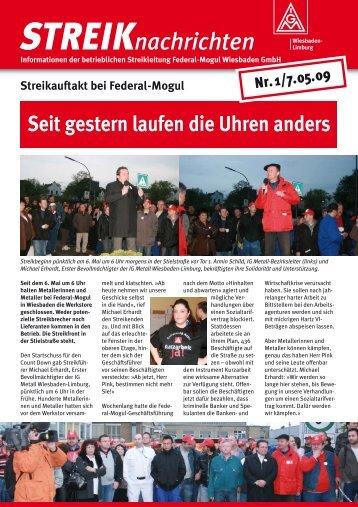 STREIKnachrichten Nr.1 (PDF im neuen Fenster) - zur Streik