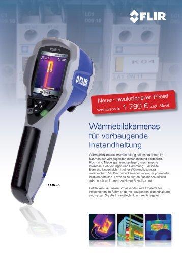 Wärmebildkameras für vorbeugende Instandhaltung - FLIR Systems