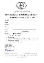 Anmeldeformular Showlauf 1/8 Meilen-Rennen für Töffli/Mofas (50 ...