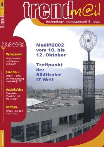 Medi@2002 vom 10. bis 12. Oktober Treffpunkt der ... - Trendm@il