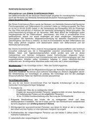 Informationen zum Erwin Schroedinger Preis - Stifterverband für die ...