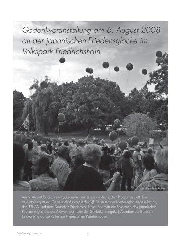Gedenkveranstaltung am 6. August 2008 an der japanischen ...