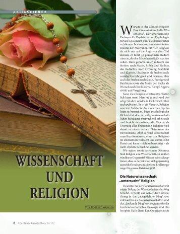 WISSENSCHAFT UND RELIGION - Abenteuer Philosophie