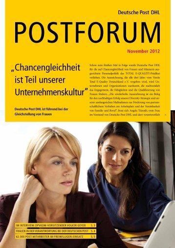 Chancengleichheit ist Teil unserer Unternehmenskultur - Deutsche ...
